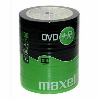 £18.94 • Buy Maxell DVD+R 47 100 Pack Shrink 4.7GB Data 120 Minutes Of Video Time, 16x Speed