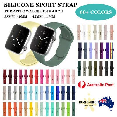 AU5.79 • Buy For Apple Watch Iwatch Sports Band Strap Series 7 6 5 4 3 2 1 SE 38/40/42/44mm