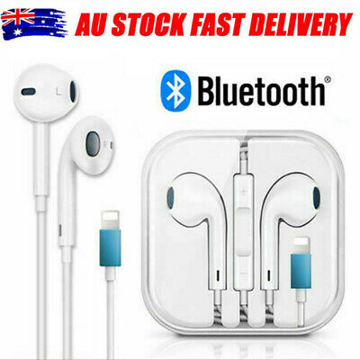 AU11.92 • Buy Wired Bluetooth Earphones For Iphone 7 8 X XS 11 Pro 8Pin Headphones Earbuds Mic