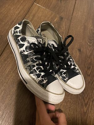 £17 • Buy **CONVERSE** CAMOUFLAGE PATTERN MATERIAL ALL STAR SNEAKERS SIZE Uk 4.5 WOMENS