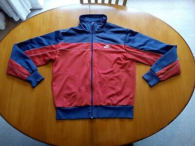 £16.99 • Buy Nike Track Top Vintage Large Size L 1980s Blue Tag Red Tracksuit Top
