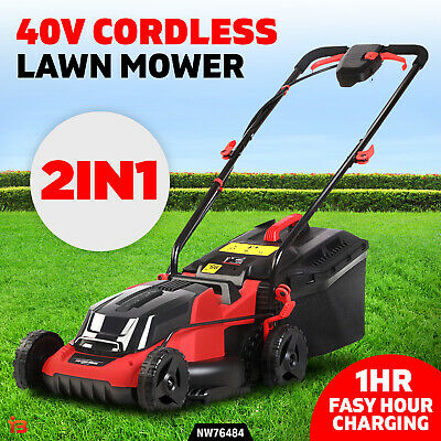 AU255 • Buy 40V 2in1 Function Garden Lawn Mower Cordless Lawnmower Electric Lithium Battery
