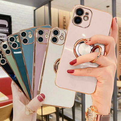 £3.99 • Buy Plating Shockproof Ring Holder Phone Case Cover For IPhone 12 Pro Max XR XS 7 8+