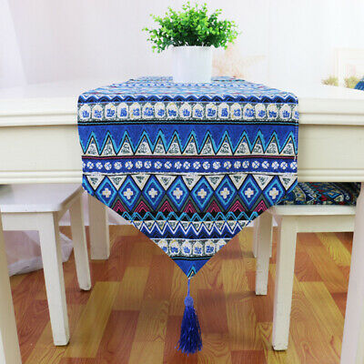AU7.99 • Buy Vintage Boho Tassel Lace Table Runner Cover Dining Party Home Decor Tablecloth