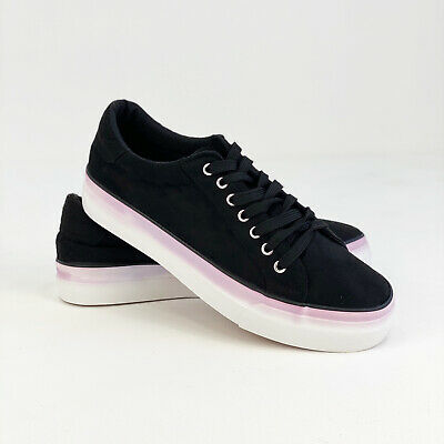£9.95 • Buy Womens Simply Be Wide/Extra Wide Fit Plain Micro Suede Uppers Platform Trainers