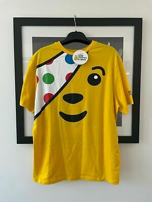 £11.80 • Buy BBC Children In Need Pudsey Bear's Cheery Face Adults Yellow T-shirt Size XL