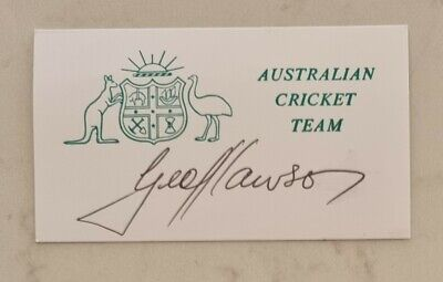 AU15 • Buy Geoff Lawson Cricket Signed In Person  Neat Card England Ashes Australia