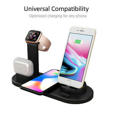 AU20.99 • Buy 3 In 1 Apple Qi Wireless Charger Charging Dock Stand Station For IPhone Watch