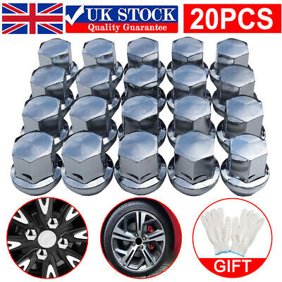 £12.99 • Buy 20PCS WHEEL NUTS FORD (M12x1.5) ALLOY CHROME TAPERED SEAT 19MM HEX BOLT STUD SET