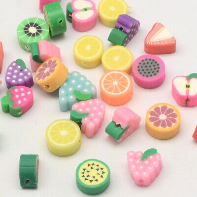 £1.79 • Buy Fruit Fimo Kawaii Polymer Clay Beads In Packs Of 50. Assorted Bright Designs