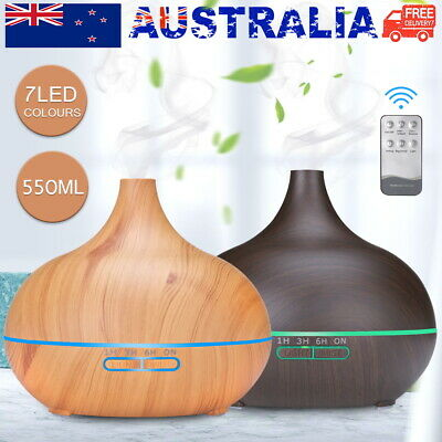 AU22.90 • Buy 550ML LED Aroma Aromatherapy Diffuser Oil Ultrasonic Air Humidifier Purifier New