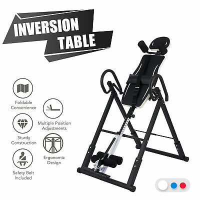 £89.99 • Buy Foldable Gravity Inversion Table Pain Relief Back Support Inverting  Body Board