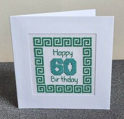 £6.95 • Buy 60th Birthday - Counted Cross Stitch Card Kit