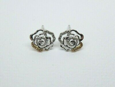 £52 • Buy Clogau Gold Silver & Rose Gold Royal Roses Stud Earrings RRP £119