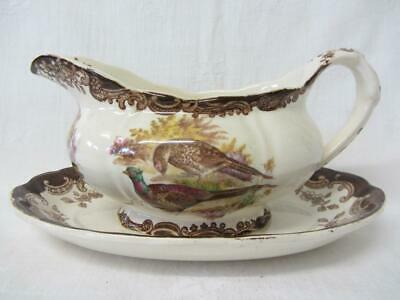 £19.99 • Buy Royal Worcester Palissy Game Series Pheasant/Duck Gravy/Sauce Boat & Stand