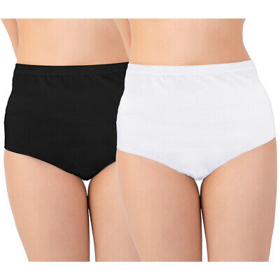 £15.13 • Buy Ladies High Waisted Brief Discreet Cotton Incontinence Pants With Built-In Pa...