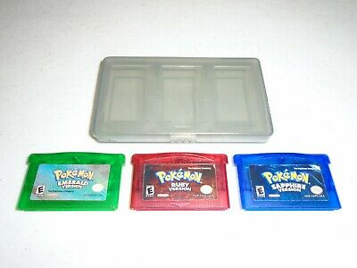 $269.95 • Buy DISCOUNTED Pokemon Emerald, Ruby, & Sapphire Version ☆ Authentic GameBoy Advance