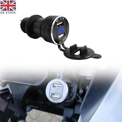 £13.14 • Buy For BMW R1200GS Triumph Tiger Hella DIN To 4.2A Dual/2 USB Charger Motorcycle