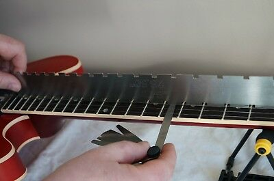 £13.95 • Buy Guitar Notched Fret Rule Straight Edge. Guitar Set Up Luthier Tools. UK, NEW..!