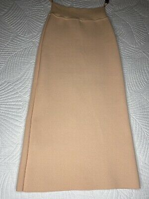 AU189.99 • Buy Scanlan Theodore Crepe Knit Coral / Apricot Midi Skirt Size Small BNWOT