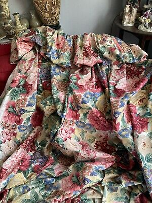 """£65 • Buy Sanderson Rose & Peony Curtains @64"""" L By 75"""" W"""