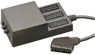 £12.50 • Buy 3 Way Scart Splitter With 3 Switches