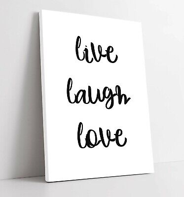 £25.49 • Buy  Live Laugh Love  Happy Inspirational Quote Home -canvas Wall Art Picture Print
