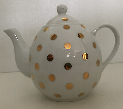 £7 • Buy Lisbeth Dahl Gold Spotty Teapot - Excellent Condition - Never Used