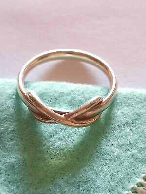 £105 • Buy Tiffany & Co Infinity Crossover Silver Ring US Size 7