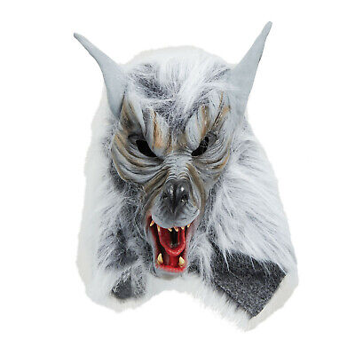 £15.95 • Buy Halloween Horror Adult OverHead Wolf Mask With White Fu