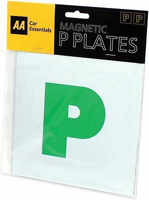 £2.89 • Buy AA Fully Magnetic P Plates For Recently Qualified Drivers One Pair Easy Fit