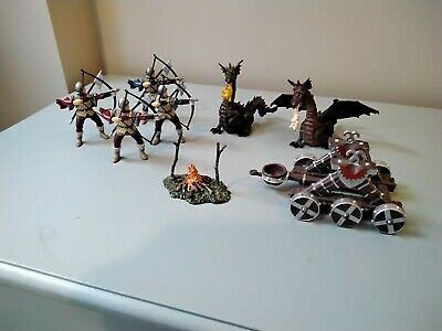 £21 • Buy PAPO Knights Bundle. 4 Archers, 2 Dragons, Fire, Catapult