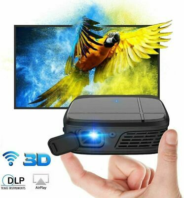 AU376.88 • Buy Portable Mini 3D Home Theater Projector DLP Wifi HD Airplay Miracast Video USB