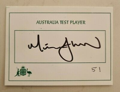 AU40 • Buy Mitchell Johnson Cricket Signed In Person Australia Test Player Autograph Piece