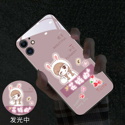 AU22.58 • Buy Induction Cute Girl LED Light Up Phone Case Cover For IPhone 7P XR 11 12 Pro Max