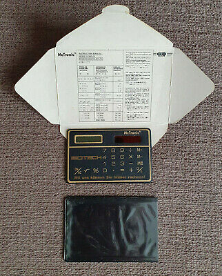 £5 • Buy Vintage 1980s McTronic Credit Card Solar Calculator