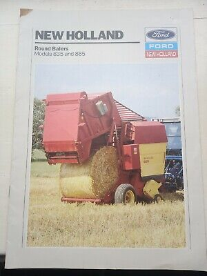 £1.70 • Buy New Holland Tractor Round Balers Brochure 835 865