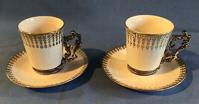 £12 • Buy Antique French Coffee Cups And Saucers X 2