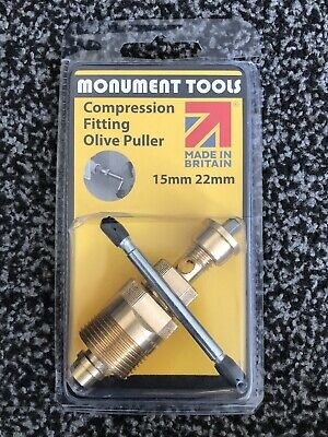 £20.89 • Buy Olive Puller Removal Plumbers Tool 15mm And 22mm - Monument Tools -