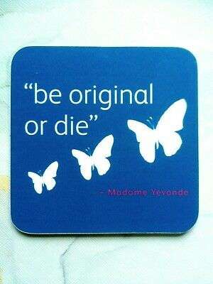 £0.99 • Buy Coaster Butterfly's With Quote Blue