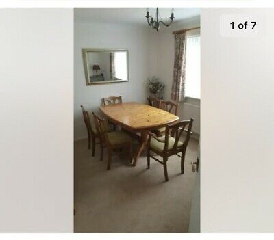 £0.99 • Buy Dining Table DUCAL Victoria Pine Extendable Used Dining Room Furniture