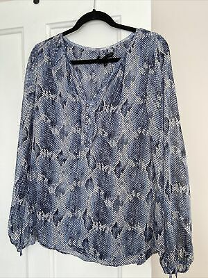 £3.50 • Buy White House Black Market Lined Blouse With Sheer Sleeves Polyester Size 10