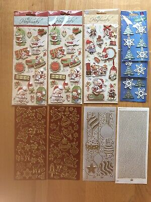 £3 • Buy 6 Packs Of Christmas Embellishments And Holographic  Outline Stickers