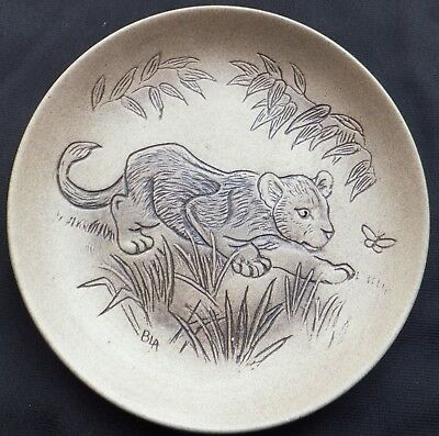 £5 • Buy Lion Cub - African Baby Animals Poole Stoneware 5  Plate By Barbara Linley Adams