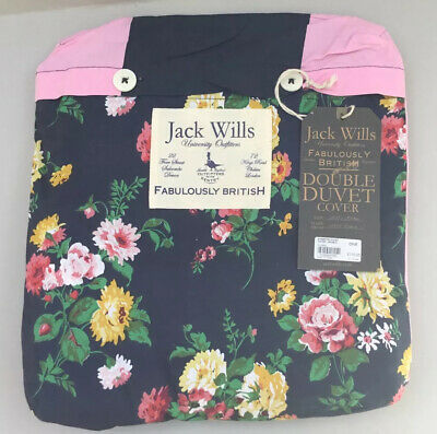 £65 • Buy Jack Wills Eynsford Duvet Cover Double Floral/Stripes  Reversible New With Tags