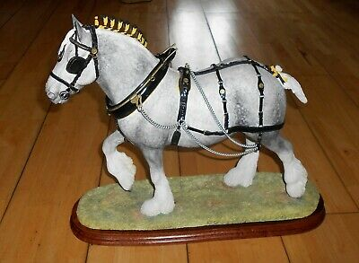£170 • Buy Large Limited Border Fine Arts B0888A The Champion Shire Grey Horse Figurine