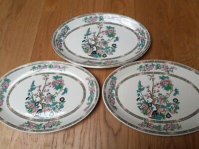 £15 • Buy 3 X Vintage Johnson Bros Oval Plate 12x 8 Indian Tree