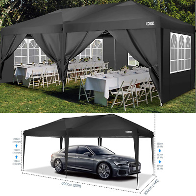 £259.89 • Buy 3x6m Gazebo Marquee Party Tent With Sides Waterproof Garden Outdoor Canopy Patio