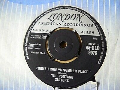 £1.11 • Buy The Fontane Sisters Theme From A Summer Place Darling LONDON 45-HLD 9078 UK 7