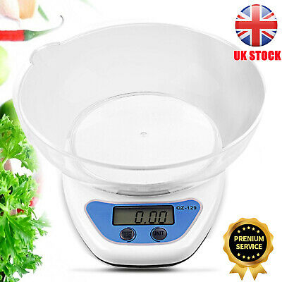 £4.20 • Buy 5KG Digital Kitchen Scales LCD Electronic Cooking Weighing Scale With Bowl UK